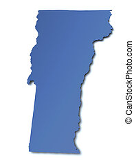 Map of Vermont - USA