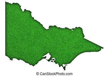 Map of Victoria on green felt