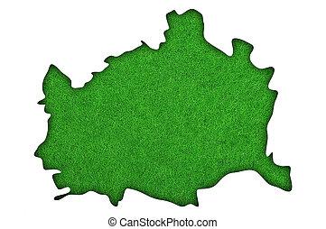 Map of Vienna on green felt