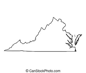 Map of Virginia