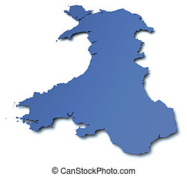 Map of Wales