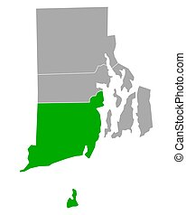 Map of Washington in Rhode Island