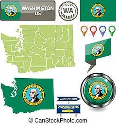 Map of Washington, US