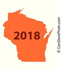 Map of Wisconsin 2018