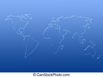 Map of world from drops of water - Map of world from ...