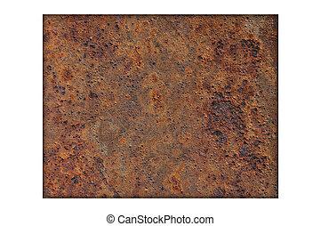 Map of Wyoming on rusty metal