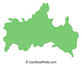 map of Yamaguchi prefecture, Japan