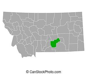 Map of Yellowstone in Montana