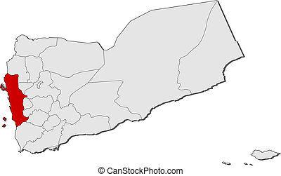 Map al hudaydah yemen Map of al hudaydah a province of