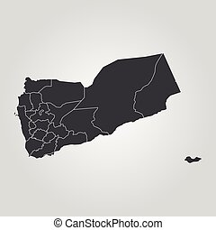 Map of yemen vector of yemen set with detailed country vector map of yemen vector illustration world map gumiabroncs Choice Image