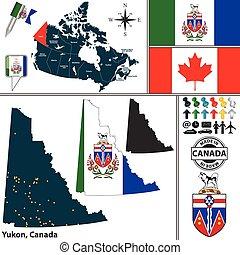 Map of Yukon, Canada