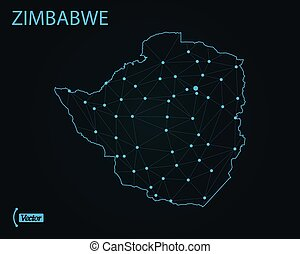 Map of Zimbabwe. Vector illustration. World map