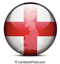Map on flag button of England