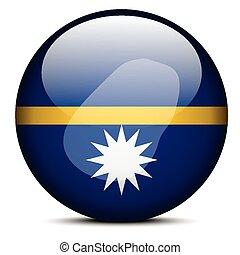 Map on flag button of Republic Nauru