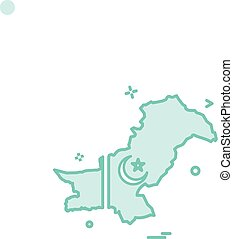 map pakistan  icon vector