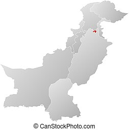 Map - Pakistan, Islamabad - Map of Pakistan with the...