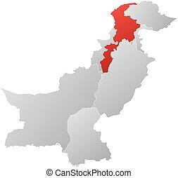 Map - Pakistan, Khyber Pakhtunkhwa