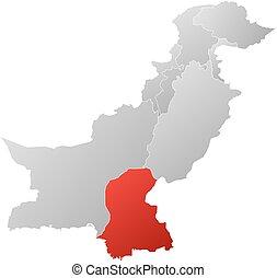Map - Pakistan, Sindh