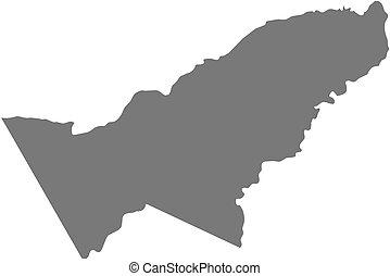 Map - Pando (Bolivia)