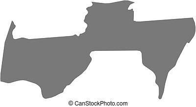Map - Para (Suriname)