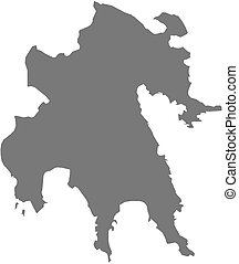 Map - Peloponnese (Greece)