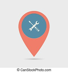 Map Pin For Service Location