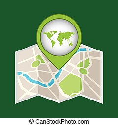 map pin green world icon