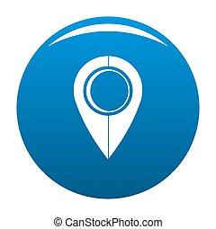 Map pin icon blue