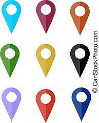 map pin icon , flat design