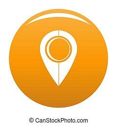 Map pin icon orange