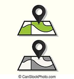 Map pin icon, vector in trendy flat style isolated on white background. Eps 10
