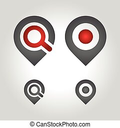 map pin logo, icon and symbol vector illustration