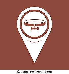 Map Pin Pointer Dog Collar Icon
