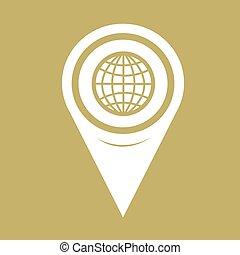Map Pin Pointer Globe Icon