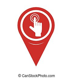 Map Pin Pointer hand click icon
