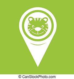Map Pin Pointer Tiger Icon