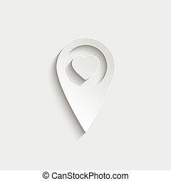 map point  icon vector  illustration isolated on white background