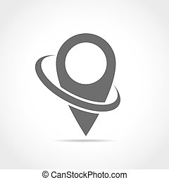 Map point icon. Vector illustration.