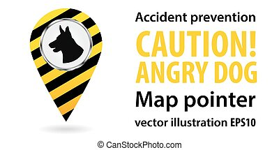 Map pointer. Be aware of dogs. Safety information....