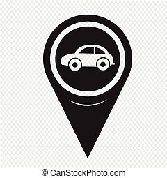 Map Pointer Car Icon