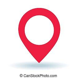 Map pointer. GPS location symbol.