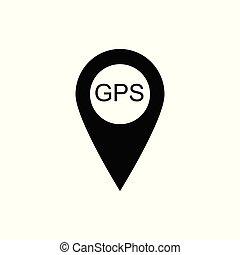 Map pointer icon. GPS location symbol. Flat design. Black on white background Vektor illustration.