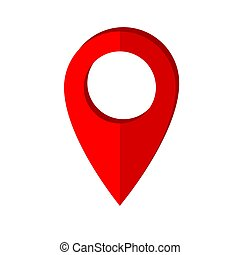 Map pointer icon in flat style. Navigator symbol isolated on white background. Vector illustration