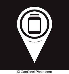 Map Pointer Jar Icon