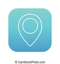 Map pointer line icon.