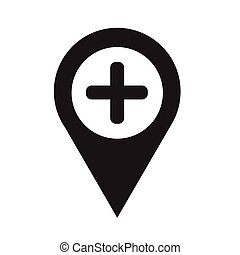 Map pointer pin icon Vector Illustration