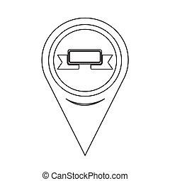 Map Pointer Ribbon Icon