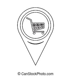 Map Pointer Shopping Cart Icon