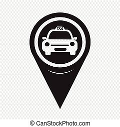 Map Pointer Taxi Icon