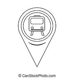 Map Pointer Train Icon